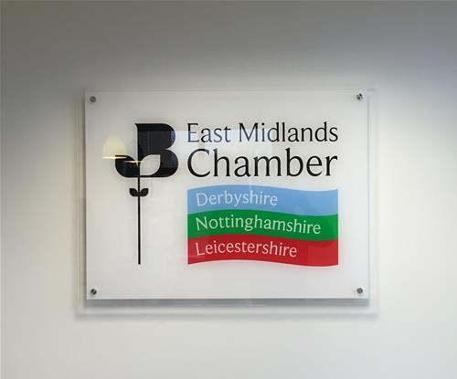 Interior branding for the East Midlands Chamber of Commerce