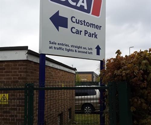 BCA Car Park Directional Sign