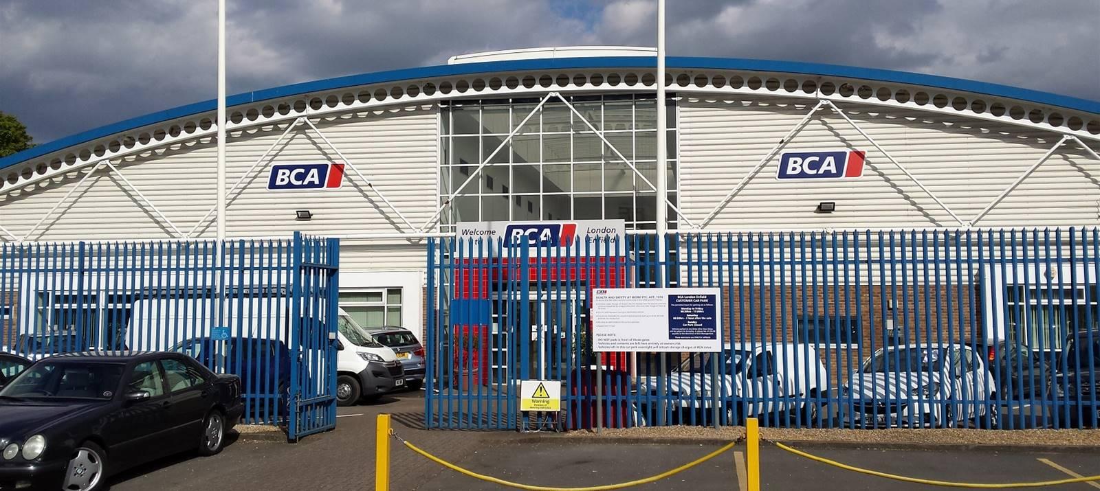 External entrance signs at BCA London