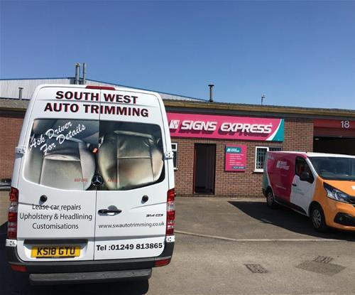 Company Van outside Bath unit