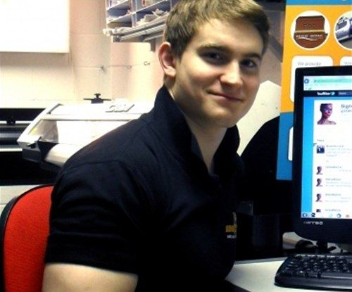 Greg 'The Guns' - voted sexiest man in the print industry, 2012