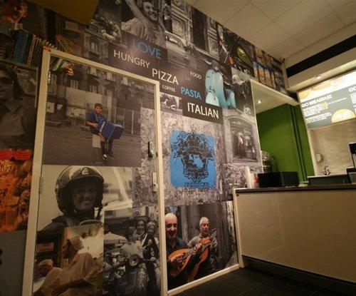 Go Italy wall graphics