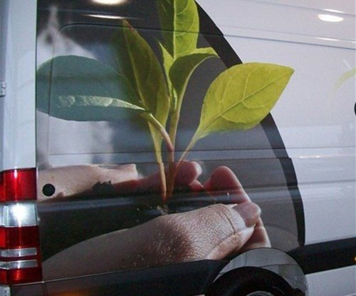 Another partial vehicle wrap for ground maintenance firm Envirocare completed!