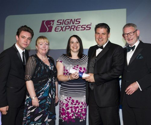 Franchisor of the year presentation 2013 with Craig Brown and Rebecca Dack