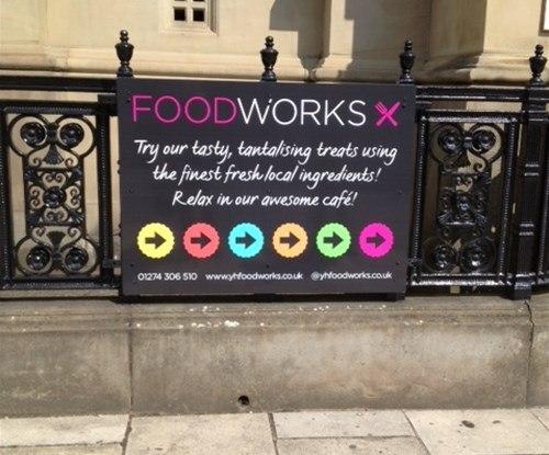 Foodworks exterior sign promotional signage
