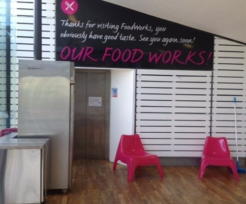 Interior signage to help promote Foodworks initiative