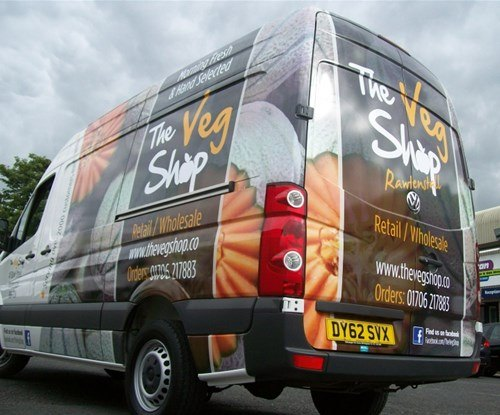 Veg Shop Vehicle Wrap