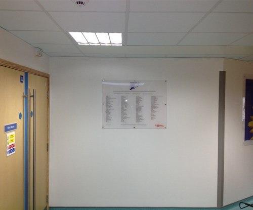 Acrylic Indoor Wall Sign