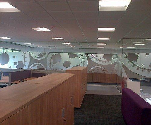 Interior glass frosting