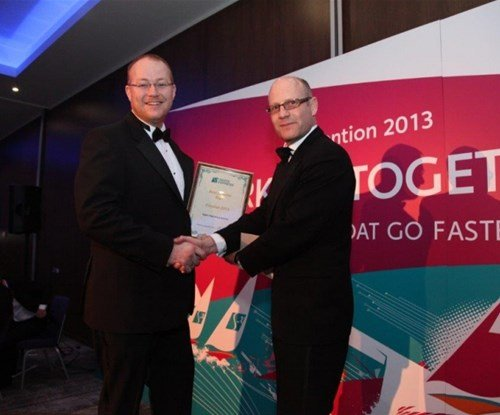 Richard Howes from Signs Express (Lincoln) accepting his award