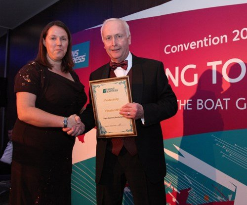 Lorraine Buchan of Signs Express Southampton with operations director Peter Sayles