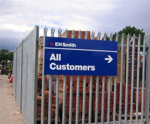 Customer information sign