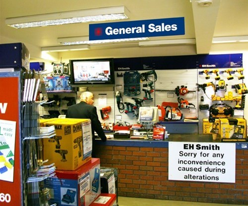 Internal point of sale signage