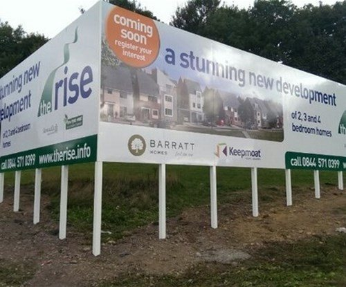 Site board sees the start of new £265 million development