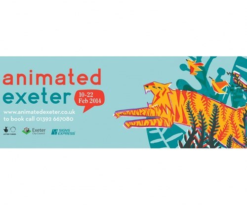Animated Exeter advertising banner