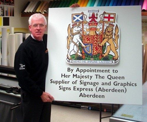 Jim Gifford of Signs Express (Aberdeen)