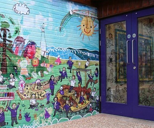 A new fun looking entrance at local primary