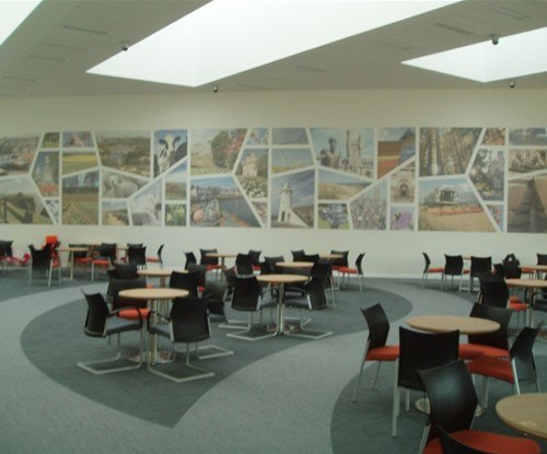 Visitor centre wall graphics