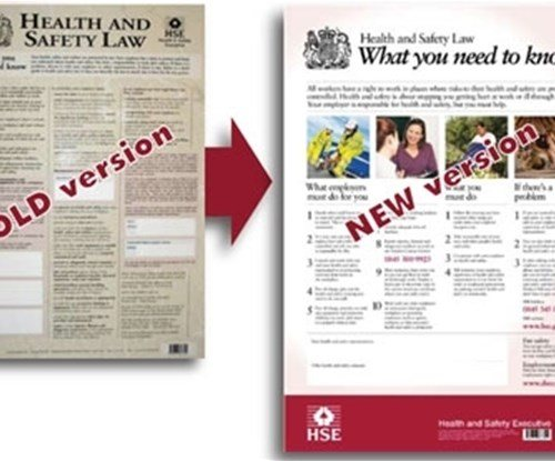 H&S Poster old version alongside the new version