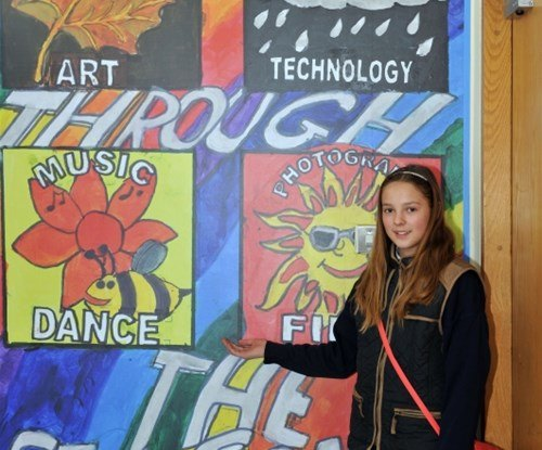 Laura Liaukevicitute from St Mary's National School, Athlone, with her winning design