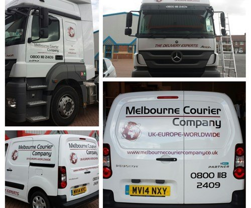 Vehicle graphics installed by Signs Express (Derby)