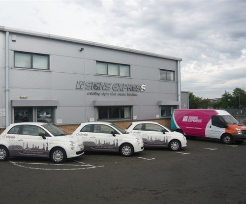 Vehicle graphics applied by Signs Express Glasgow