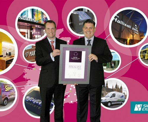 Finance director Jonathan Bean and Managing Director Craig Brown of Signs Express