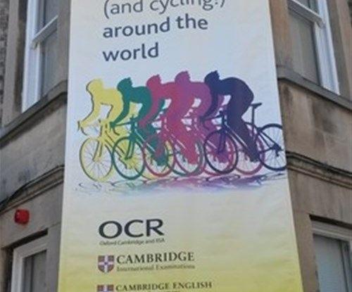 The Tour de France banners