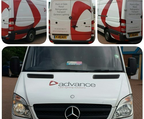 Vehicle graphics applied by Signs Express (Derby)