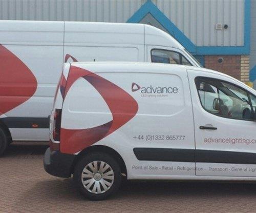 Vehicle wraps for Advance International