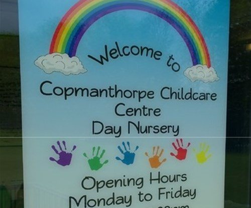Digitally printed window graphics for Copmanthorpe Childcare Centre