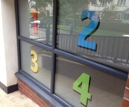 Window graphics created by Signs Express Derby