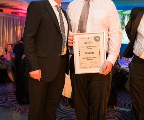 Rick and Dave Nurse of Signs Express Leeds with their finalist award