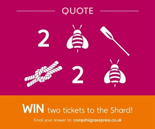 Win! Tickets to The Shard | Signs Express
