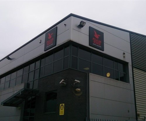 2no aluminium sign trays fitted at Manchester depot