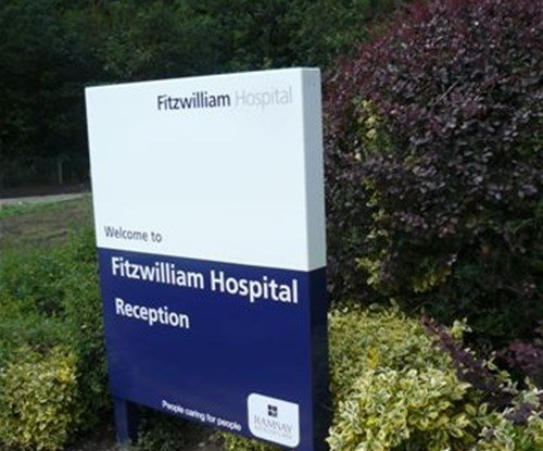 Fitzwilliam Hospital panel and post reception sign