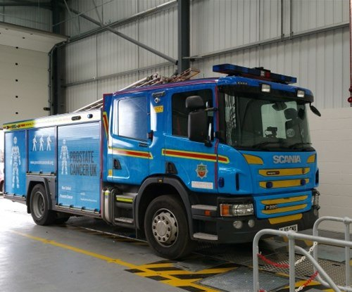 Fire engine wrapped by Signs Express Hull