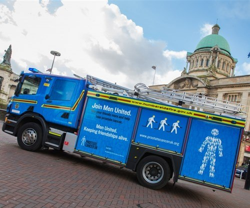 Charity fire engine wrap