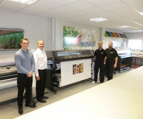 From left to right: Dean Sutton from CWE Solutions, Graham Casey, Aidan Calderwood and Robert Murtagh