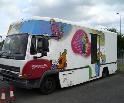 Worcestershire County Children's Library bus Before the makeover