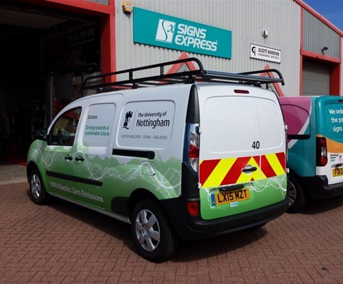 Partially wrapped Security Vans for Nottingham University