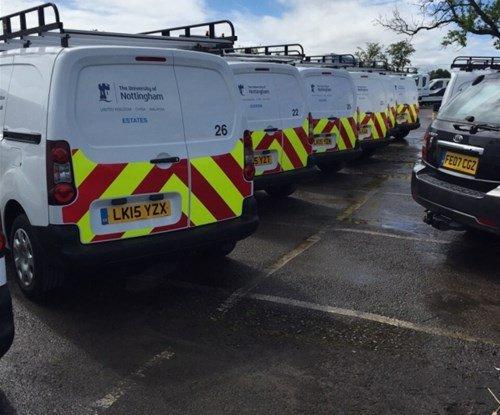 Partially wrapped fleet for Nottingham University