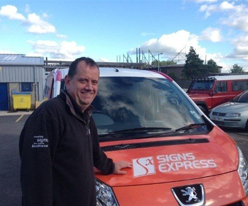 Mark Glover owner of Signs Express (Stockport)