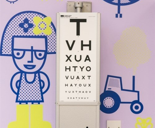 Wall graphics at Sheffield's Children's Hospital Eye Department