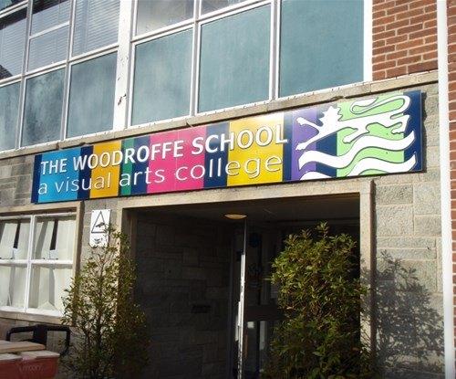 Colourful sign for Woodroffe School - designed by the school. Digital print onto 3mm dibond aluminium composite panels