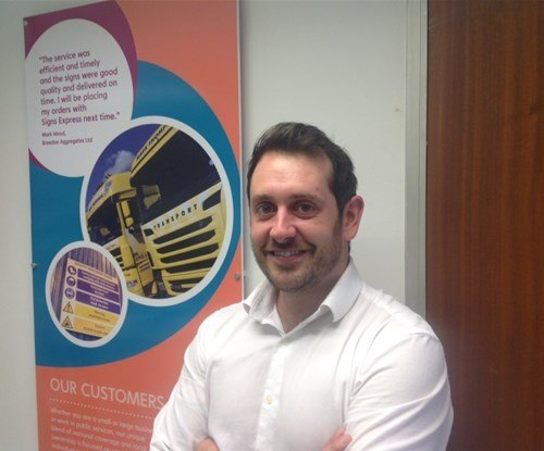 Craig Tiley, new owner of Signs Express (Stoke)