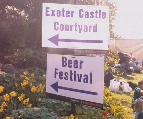 A range of directional and information signs were sponsored for the Exeter Festival of South West Food & Drink held in Exeter on the 17th, 18th & 19th of April