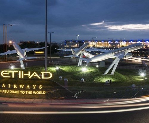 Award-winning Etihad Airways signage