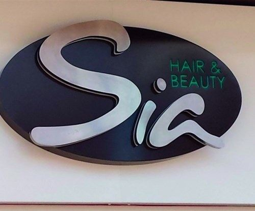 Fascia Sign for Sia Beauty Salon