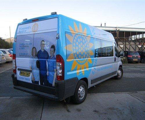 Vehicle Graphics for St Leonard's Hospice